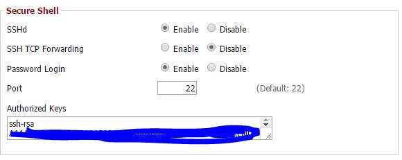 router ssh