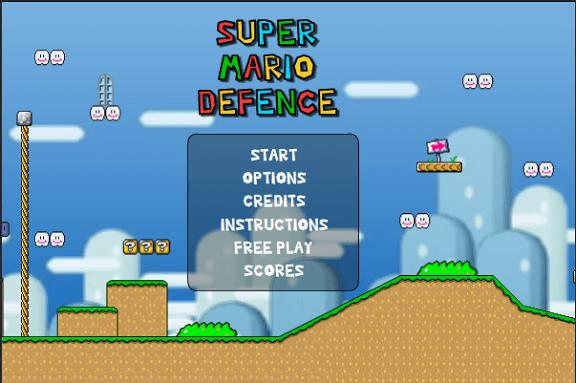 經典遊戲改編:Super Mario Defense(超級瑪利歐守城)