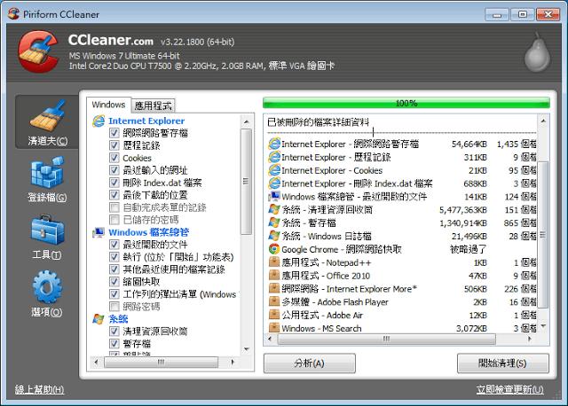 CCleaner 詳細資料