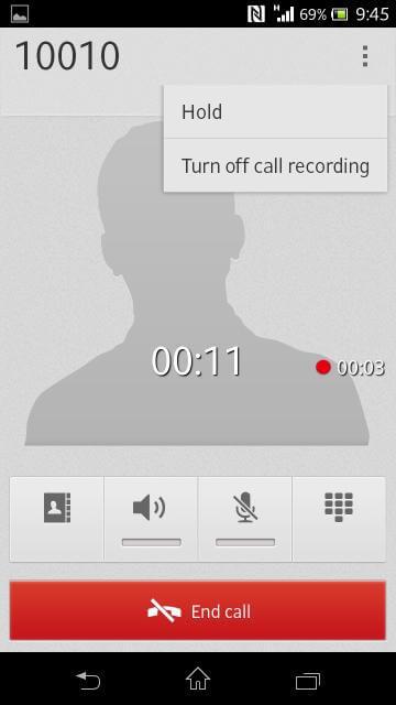 Xperia V 通話錄音