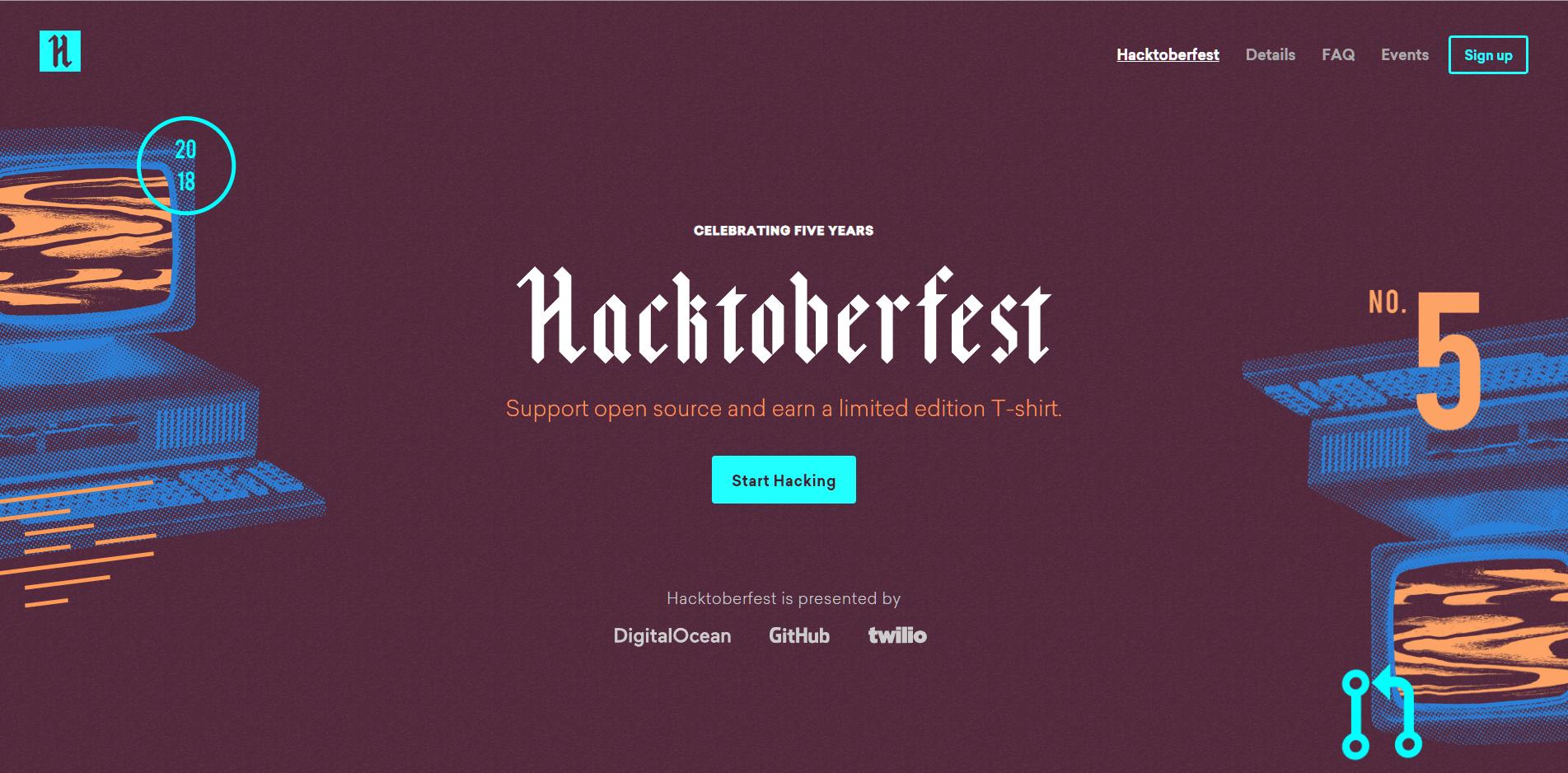 Hacktoberfest 2018:貢獻開源專案拿免費 T-Shirt