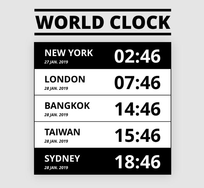 利用原生 JavaScript 計算各時區時間