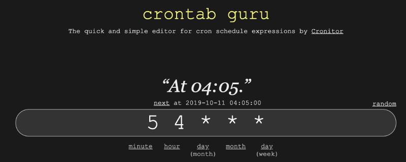 crontab_guru
